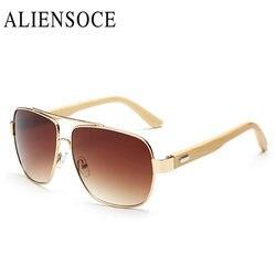 Rétro bambou lunettes De soleil or miroir hommes femmes gg lunettes De soleil en bois lunettes De soleil en métal marque Designer bois lunettes De soleil Oculo De Sol