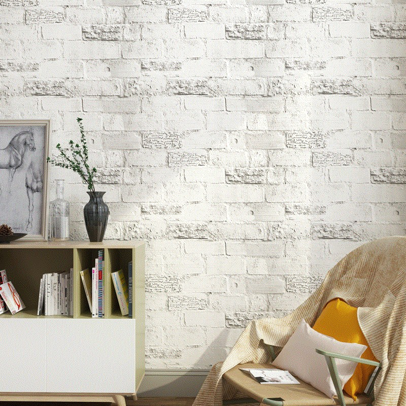 PVC Self-Adhesive Waterproof Wallpaper 3D Brick Living Room Bedroom Modern Creative Home Decor Art Vinyl Wall Sticker Wallpapers