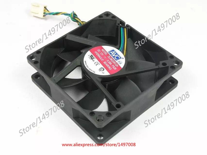 AVC DL08025R12H PS26 DC 12V 0.35A 80X80X25mm сервера Square Fan