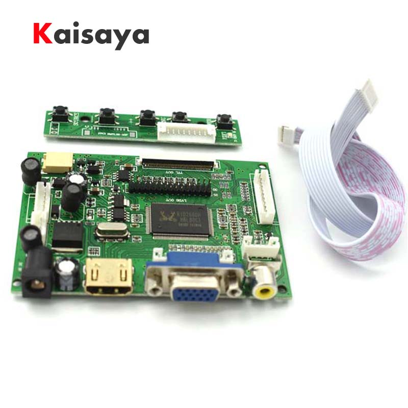 купить HDMI VGA 2AV LVDS ACC TTL Lcd Display Controller 50pin Board kit for 7 8 9 inch LCD Monitor Raspberry Banana Pi pcduino C4-008 по цене 935.65 рублей