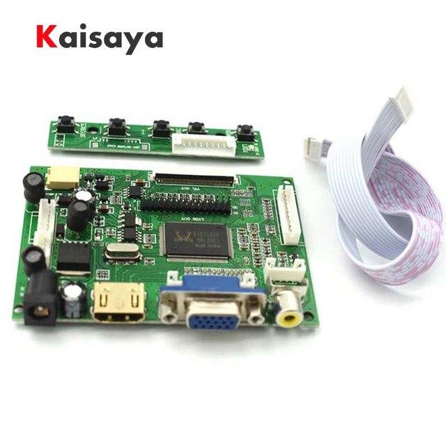 HDMI VGA 2AV LVDS ACC TTL Lcd Display Controller 50pin Driver Board for 7 inch 1024 x 600 LCD Monitor Raspberry pcduino T0845