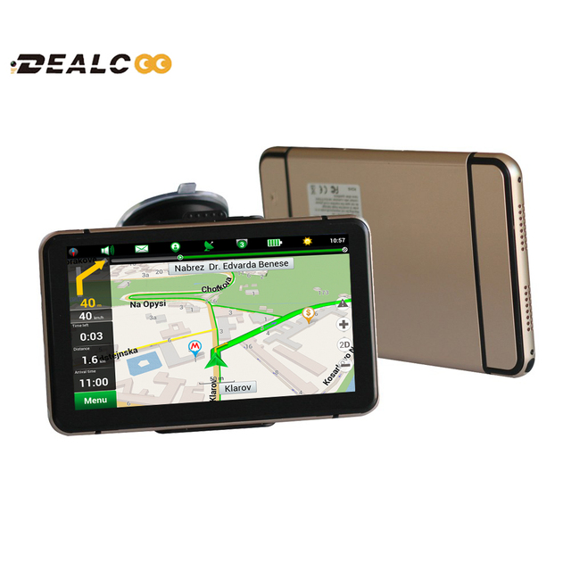 New 7 inch HD Car GPS Navigation navigator FM wince 6.0 Russia/Belarus/USA+Canada full Europe map Truck vehicle gps 128M/4GB