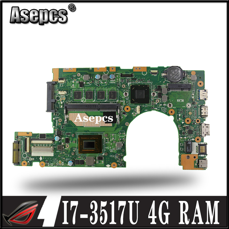 Asepcs S400CA Laptop motherboard for ASUS S400CA S500CA S400C S500C S400 S500 Test original mainboard 4G