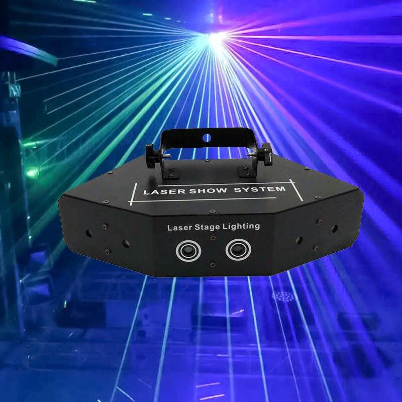 Профессиональный RGB лазерный светильник 6 глаза Laster светильник DMX сценический светильник для диско танцевальные залы бары КТВ для ночного к...