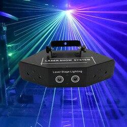 Professionelle RGB Laser Licht 6 Augen Laster Licht DMX Bühne Licht für Disco tanzlokale Bars KTV Nachtclub Hochzeit Familie party