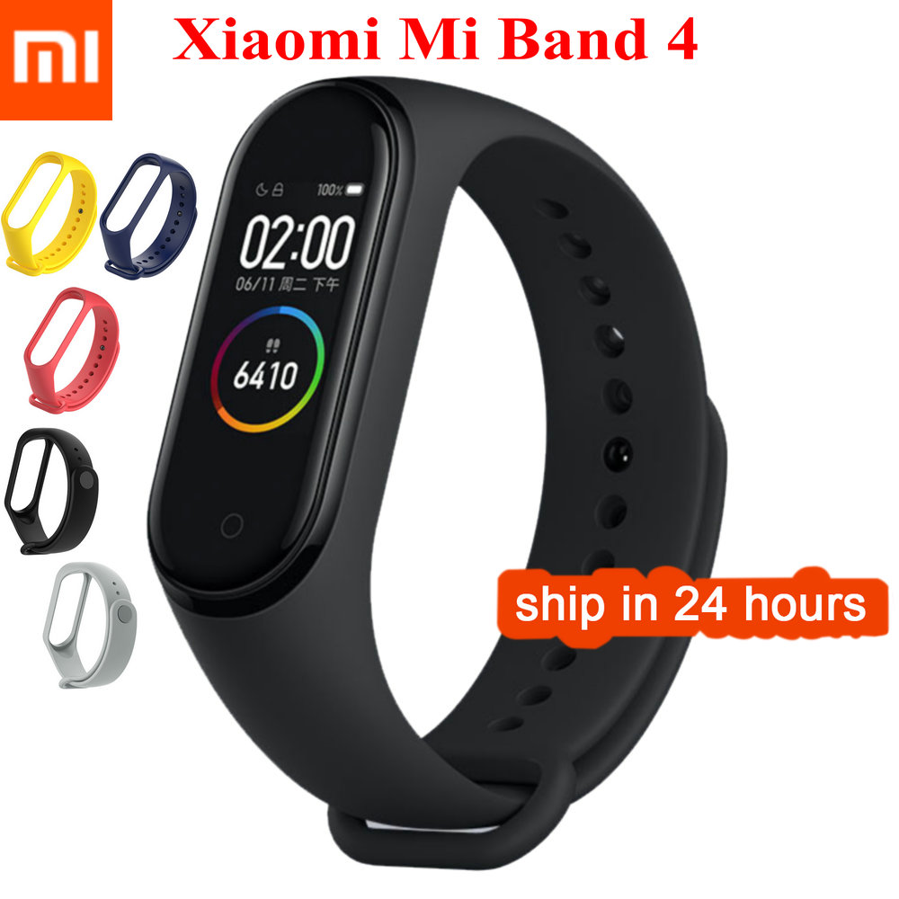 Stock Xiaomi Mi Band 4 Original 2019 Newest Music Smart Miband 4 Bracelet Heart Rate Fitness