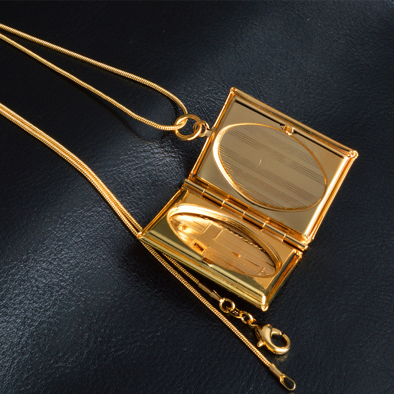 Pinksee vintage style delicate imitation book locket pendant pinksee vintage style delicate imitation book locket pendant necklace secret hiding place photo necklaces jewelry photos aloadofball Images