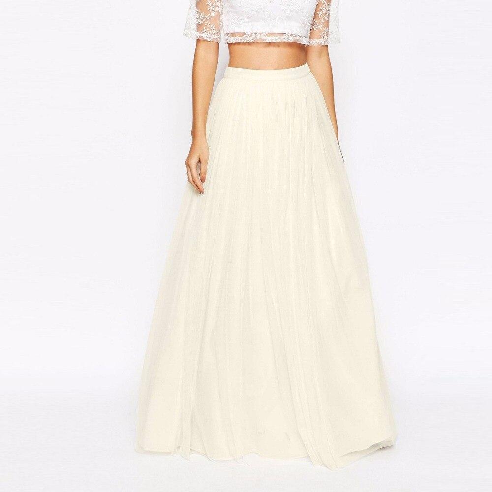 c78ff3f4f Alta calidad por encargo de la gasa larga Faldas para dama elegante color  beige falda para las mujeres cremallera American Apparel en Faldas de Moda  y ...