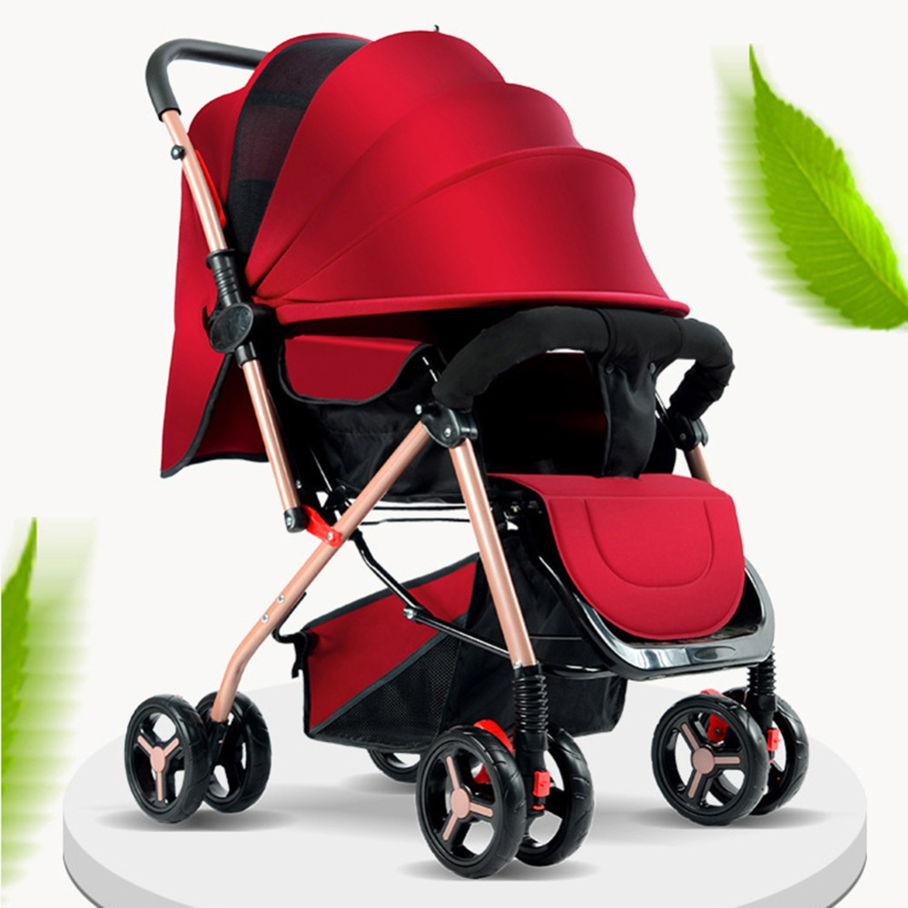 New Fashion Baby Strollers Ultra Lightweight Folding Travel Portable Can Sit Can Lie High Landscape Umbrella Baby Trolley#280148