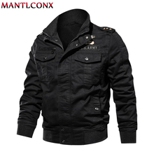 MANTLCONX 2019 Men Military Jacket Spring Winter Autumn Casual Cotton Jackets Coat jaqueta masculina New