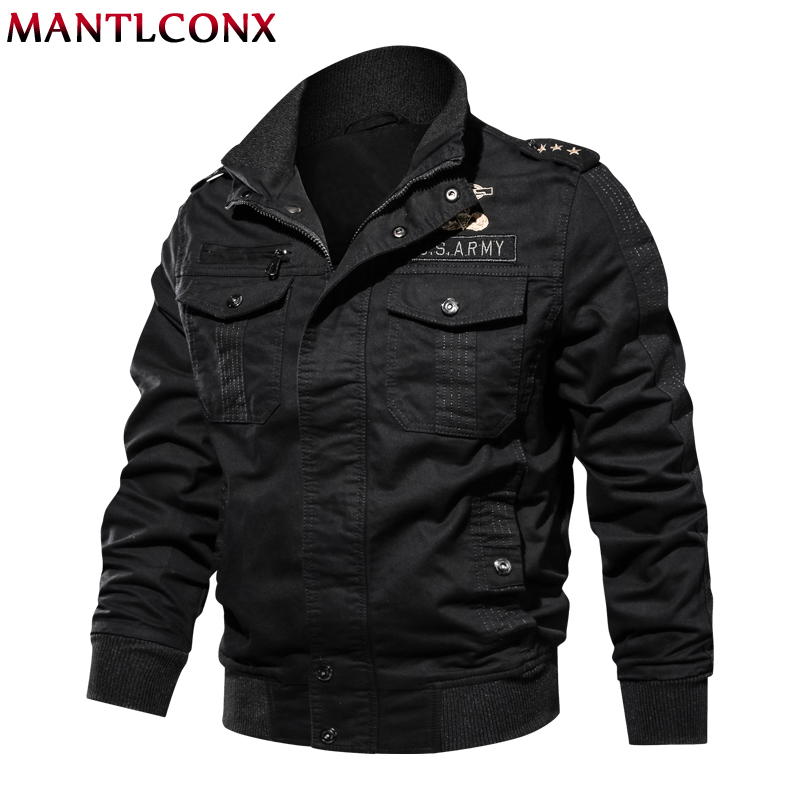 MANTLCONX 2019 hommes veste militaire printemps hiver automne veste hommes décontractée coton vestes manteau militaire jaqueta masculina nouveau