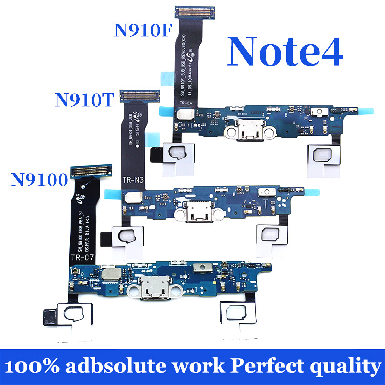 For Samsung Galaxy Note 4 N910F USB Charging Port Connector Dock Flex Cable Replacement N910A N910M N910T