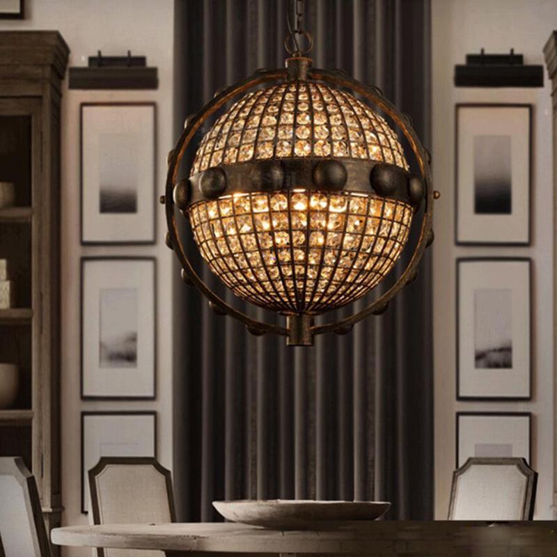 luces colgantes led c rystal vinatge retro rstico hogar luminarias lmparas colgantes para comedor bar restaurante