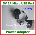 50pcs 5V 2A Micro USB Charger UK Plug for Tablet PC Cube U55GT U65GT U27GT  vi8 Chuwi vi10 PiPo U8 Power Supply Adapter