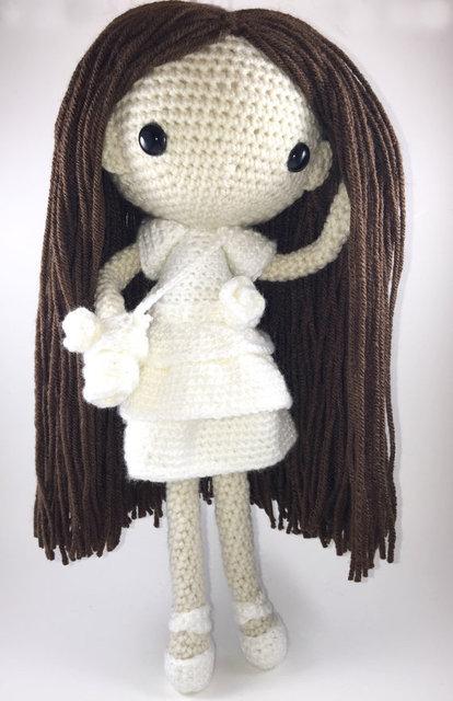Maria - crochê boneca Amigurumi