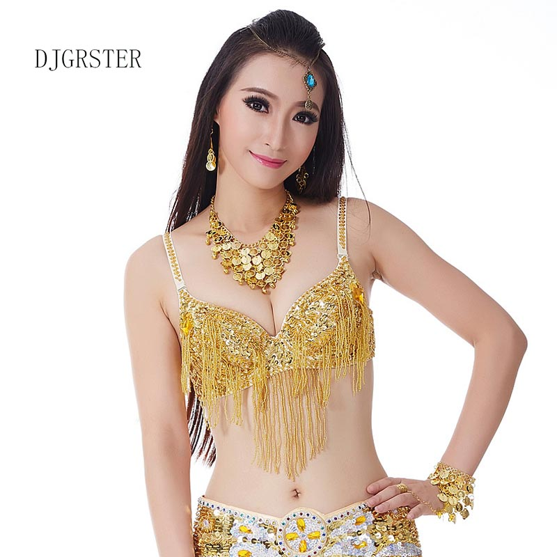 DJGRSTER 2018 New Lady Belly dance costumes senior sexy colors stones sequins belly dance bra for women belly dancing bra tops
