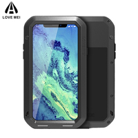 LOVE MEI Aluminum Metal Case For iPhone X XS Cover Armor Shock/Water/Rain Proof Case For iPhone XS 10 Cases iPhoneXS Coque