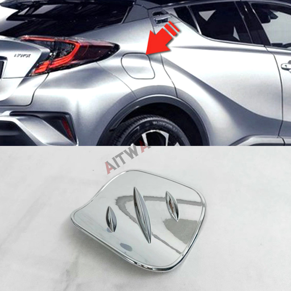 ABS Chrome External Fuel Oil Plating Tank Cover Trim Protective Sticker 1Pcs Auto Accessories Fit For Toyota C-HR CHR 2018 2017