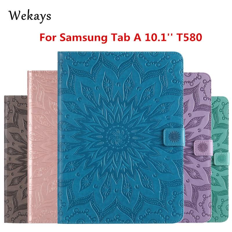 Wekays para Galaxy Tab 10,1 inteligente de cuero Funda para Samsung Galaxy Tab 10,1 2016 T585 T580 T580N Tablet caso de la cubierta