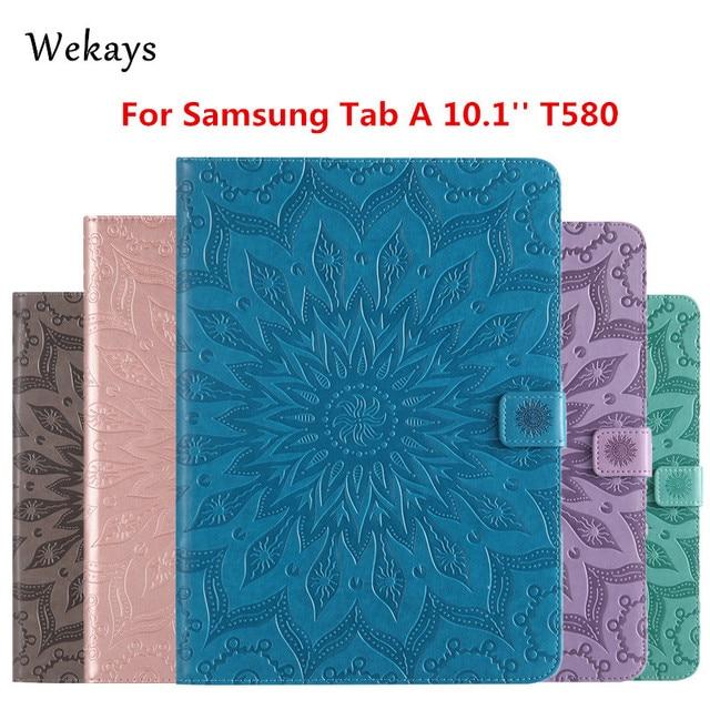 Wekays para Galaxy Tab 10,1 inteligente de cuero Funda para Samsung Galaxy Tab 10,1 2016 T585 T580 funda para tableta T580N