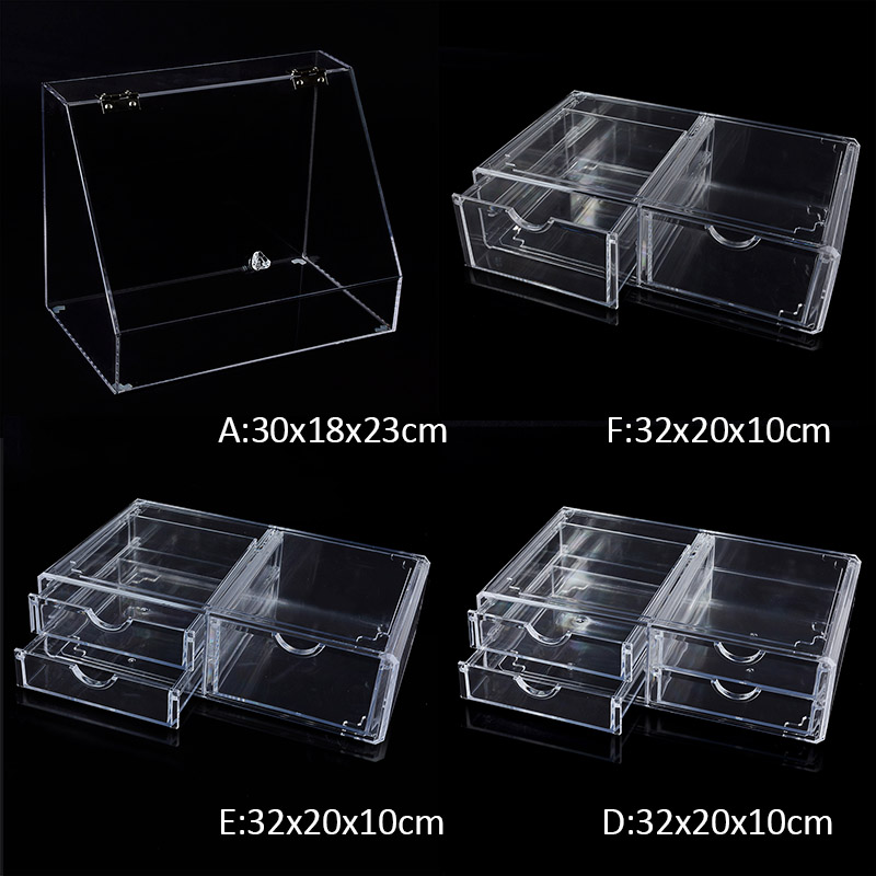 Clear Acrylic Makeup Organizer Container