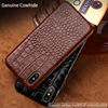 LANGSIDI Genuine Leather Case For OnePlus 3T Crocodile Grain Real Cowhide Leather Back Cover