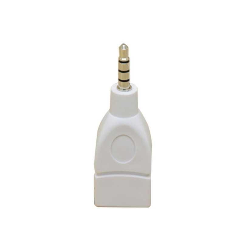 Nowy konwerter Adapter USB 2.0 kobiet do 3.5mm męski AUX Audio trwałe wtyczka samochodowa Jack konwerter samochodowy ładowarka