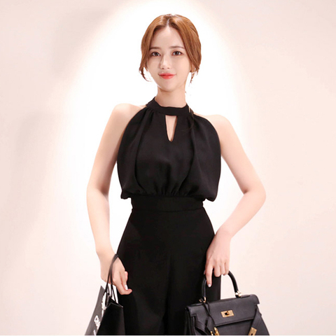 2019 Summer Women Jumpsuits Casual slim Fashion Elegant Office Lady Workwear Romper Lahore