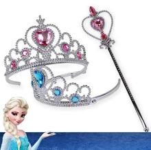 Hot sale Frozen Crown Princess Hair Accessories Bridal Crystal Tiara Hoop Headband Bands For Kids Christmas Gift