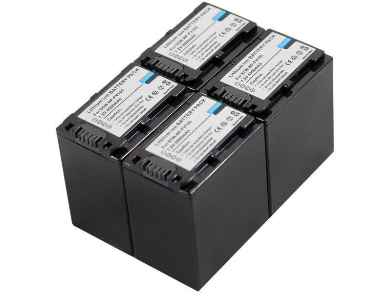 dc54961f40d O Envio gratuito de new 4 pcs NP-FV100 Bateria e Carregador para HDR-CX270V  CX350VE CX580V HC3E PJ210