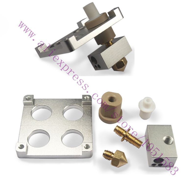 Ultimaker Original /Original+ 3D Printer Hot End Pack Budasch nozzle J-head with PEEK &Heating block for 1.75mm /3.mm 3D Printer 3d printer parts lulzbot budasch nozzle hot end 0 35 mm copper nozzle with resistor heating element 6 8 ohm great quality