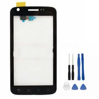 For Motorola ATRIX 4G MB860 Digitizer Front Glass Repair Touch Screen Panel With Frame Replacement Black