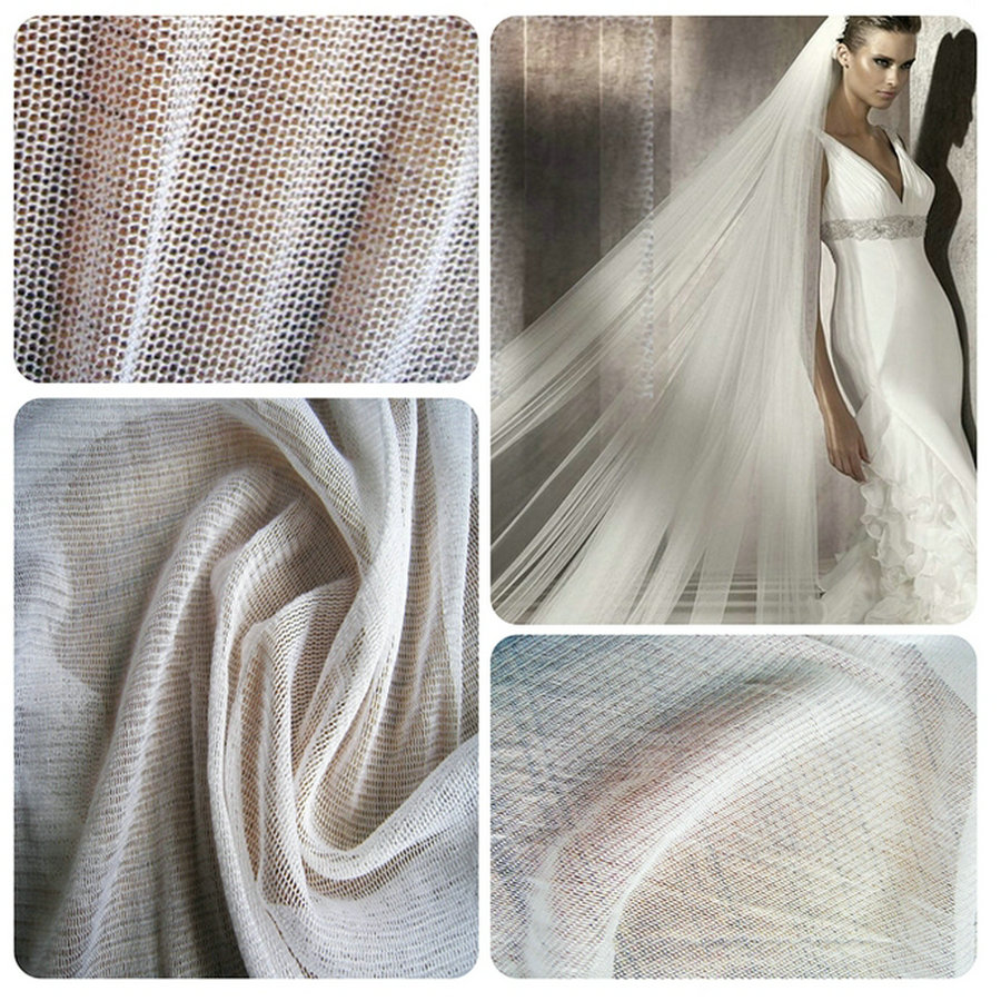 Super fine White soft delicate tulle fabric 150cm wide Veil bridal wedding use