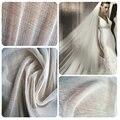 100% натуральный белый шелк, тюль, ткань для свадьбы, шелковая вуаль, 100% шелковая ткань, ширина 150 см - фото