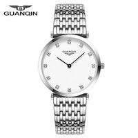 Oferta Reloj de pulsera femenino 2018 GUANQIN para mujer, de negocios, Casual, bayan kol saati, reloj de cuarzo para mujer, de marca de lujo, Unisex, Montre, mujer A