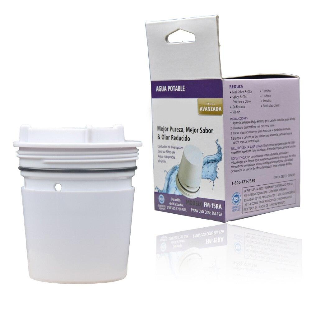 Waterdrop Fm-15ra robinet filtre /à eau de remplacement pour Culligan Fm-15ra Filteration Syst/ème finition Blanc lot de 3