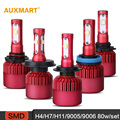 Auxmart G9 H4 H7 H11 9005 9006 LED Car Headlight Bulbs 80W 5D SMD 6500K 9600LM Headlamps Hi-Lo/Single beam Fog Lamp DRL 12v 24v