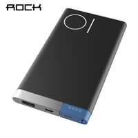 ROCK 10000mAh Power Bank Portable Phone Charger Powerbank For IPhone 7 6 For Xiaomi 6 External