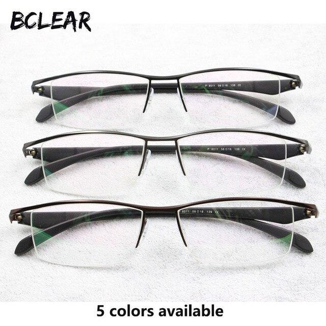 BCLEAR חדש גברים עסקי משקפיים מסגרת חצי רים מותג טיטניום סגסוגת קוצר ראייה משקפיים האולטרה אופנה כיכר מסגרות