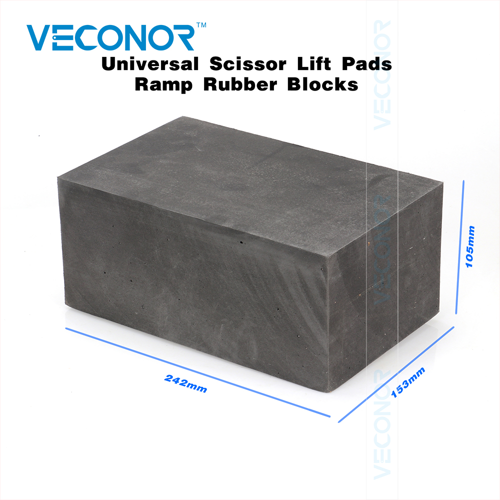 Universal Scissor Lift Pads Ramp Rubber Blocks Light
