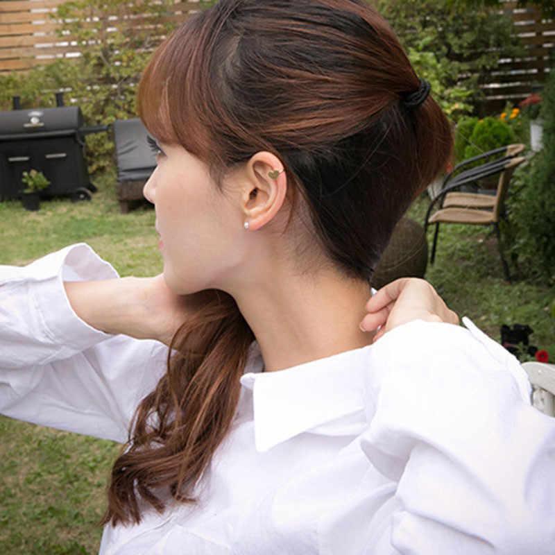 LUSION estrella de Metal Luna corazón pendiente de Aro para mujer clip de oreja joyería de moda 1 piezas Vintage clip de oreja coreano pendientes nuevo regalo
