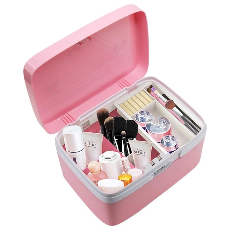 Storage Bins Box Password Lock Housekeeping Home Storage Organization Makeup Organizer Desk Accessories Organizer ContainerNew