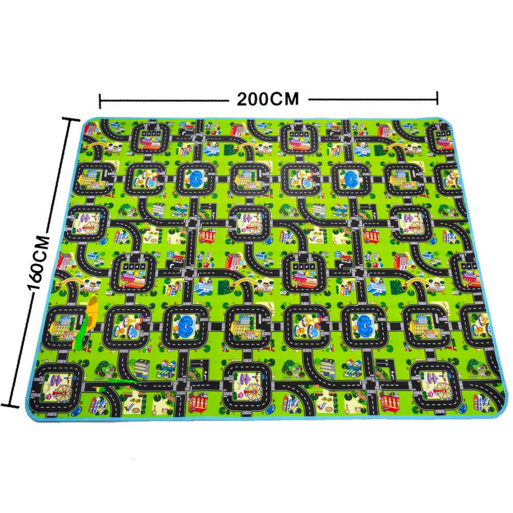 4 размера 0,5 см толстое городское одеяло дорожное детское ползающее коврик EVA пена коврик для лазания ЗЕЛЕНАЯ ДОРОГА детский игровой ковер для ребенка