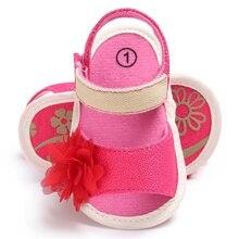 Лето прекрасная девочка малыша детские девушки мягкой подошвой мода кроватки принцесса цветок обувь firstwalker prewalker 0-18 m