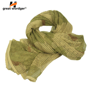 Image 2 - Outdoor Military Camouflage Tactical Mesh Breathable Scarf Sniper Face Veil Camping Hunting Multi Purpose Hiking Scarve