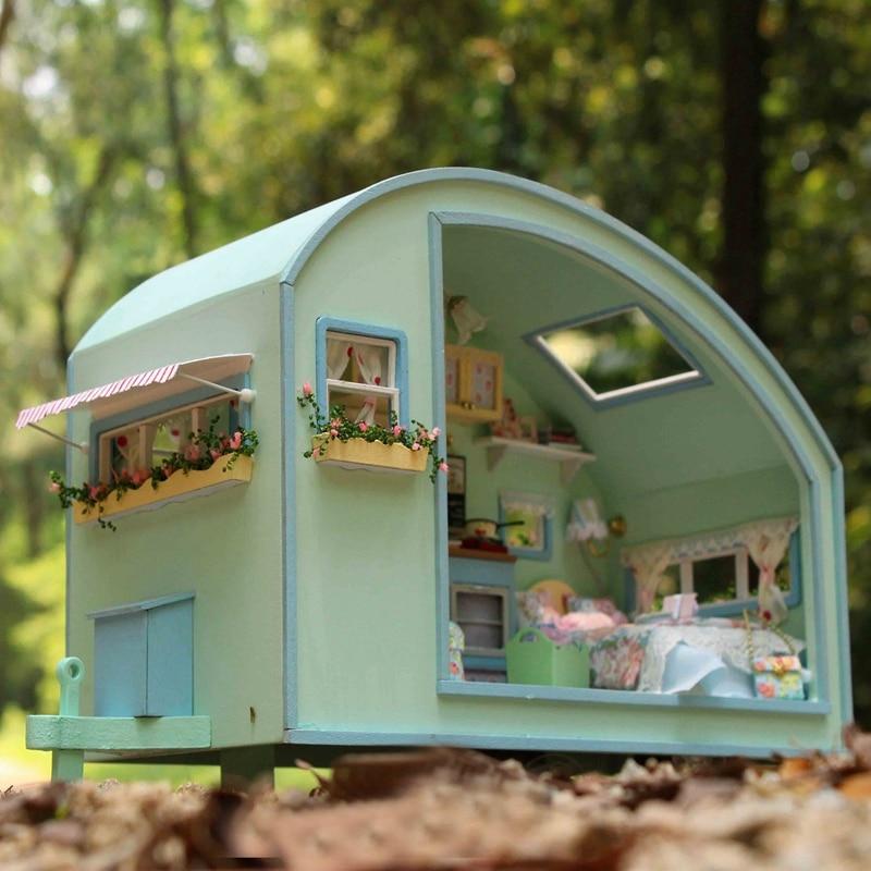 Cute Room Doll House Miniature DIY Dollhouse POPPENHUIS Furnitures Wooden Handmade Toy TIME TRAVEL Gift Kids A016 CASA DE BONECA цена