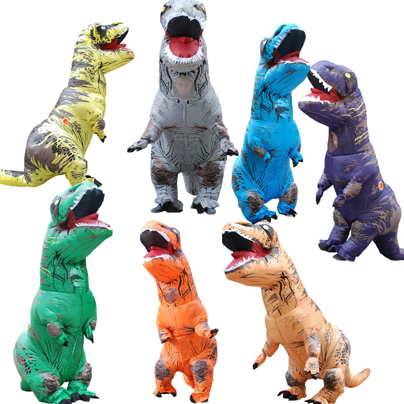 Adult T-Rex Inflatable Dinosaur Costume Christmas Costumes Halloween Cosplay Carnival Clothes Dinosaur Animal Jumpsuit For Women