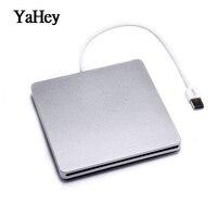 Yahey USB 3,0 слот загрузки CD Встроенная память плеер внешний CD/DVD-RW горелки Привод записывающее устройство для Apple Macbook Pro портативных ПК + мешок во...