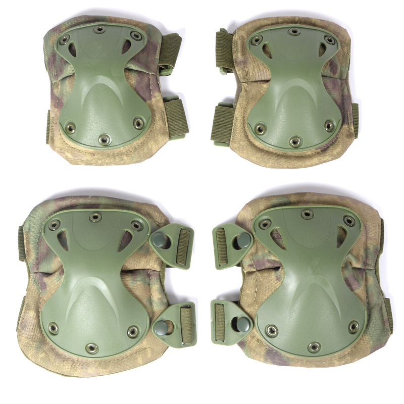 Military Tactical Knee Pads Set SWAT Combat Airsoft Paintball Gear Adjustable Hunting CS Field Equipment Elbow Protector Support