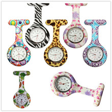 Кварцевые женские кварцевые карманные часы с силиконовым циферблатом и круглым циферблатом